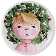 Little Miss Merry Round Beach Towel