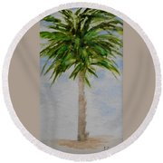 Little Palm Tree Round Beach Towel