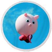 Little Piggy Round Beach Towel