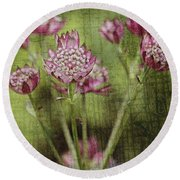 Little Pink Jewels Round Beach Towel