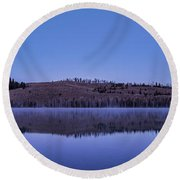 Little Red Fish Lake Round Beach Towel