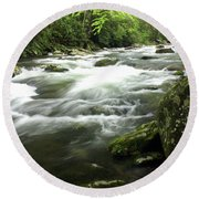 Little River 3 Round Beach Towel