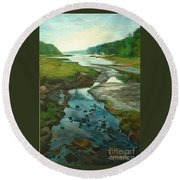 Little River Gloucester Round Beach Towel