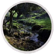 Little Stream Round Beach Towel