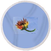Little Sunflower Round Beach Towel