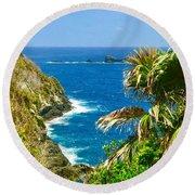 Little Tobago  Round Beach Towel