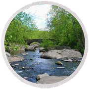 Little Unami Creek - Pennsylvania Round Beach Towel