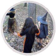 Little Witches Round Beach Towel