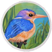Litttle King Of The Fishers Round Beach Towel