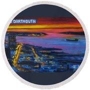 Live Eye Over Dartmouth Ns Round Beach Towel