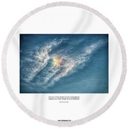 Live Forever Round Beach Towel