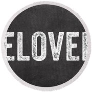 Live Love Bake Round Beach Towel