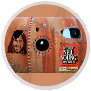 Live Rust, Neil Young Round Beach Towel