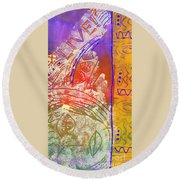 Live Your Life Round Beach Towel