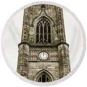 Liverpool Church Of St Luke - Tower B Round Beach Towel