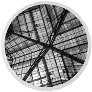 Liverpool Street Station Glass Ceiling Abstract Round Beach Towel