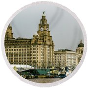 Liverpool Waterfront Round Beach Towel