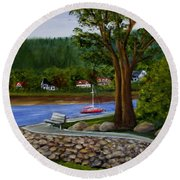 Living In Annapolis Royal Round Beach Towel