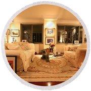 Living Room IIi Round Beach Towel