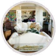 Living Room Iv Round Beach Towel by Madeline Ellis