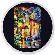 Living Town Round Beach Towel