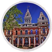 Livingston County Courthouse 1 Round Beach Towel