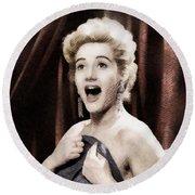 Liz Fraser, Vintage British Actress Round Beach Towel