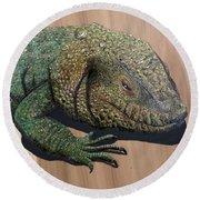 Lizard Art Work Round Beach Towel