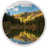 Lizard Lake Round Beach Towel