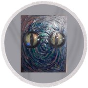 Lizard Man Round Beach Towel