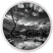 Llanberis, Wales Round Beach Towel