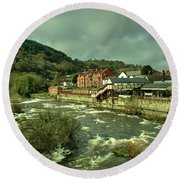 Llangollen Station  Round Beach Towel