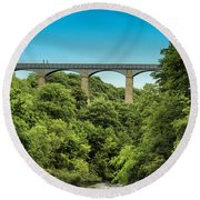 Llangollen Viaduct Round Beach Towel