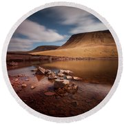 Llyn Y Fan Fach Black Mountain Round Beach Towel