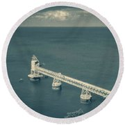 Loading Dock / Pier In Aguadilla Round Beach Towel
