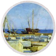 Loading Marble Round Beach Towel