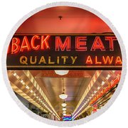 Loback Meat Co Neon Round Beach Towel