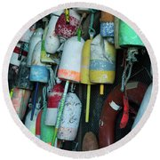 Lobster Buoys Hanging Round Beach Towel
