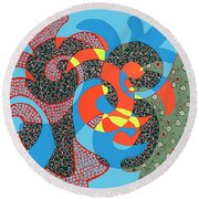 Lobster Party Round Beach Towel