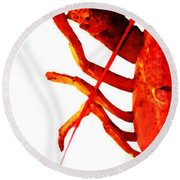 Lobster - The Left Side Round Beach Towel