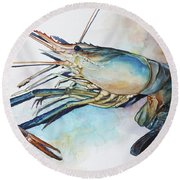 Lobster_001 Round Beach Towel