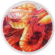 Lobsters Round Beach Towel