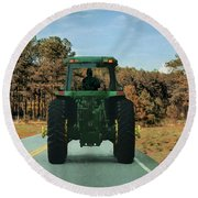 Local Traffic 907 - Painting Round Beach Towel