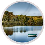 Loch Awe Reflections Round Beach Towel