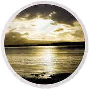 Loch Bracadale Sunset Round Beach Towel