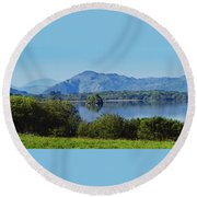 Loch Leanne Painting Killarney Ireland Round Beach Towel