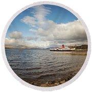 Loch Lomond Landscape Round Beach Towel