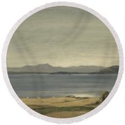 Loch Nell, 1930-1935, By Sir David Cameron Round Beach Towel