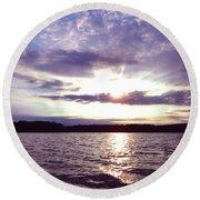 Loch Raven Sunrise Round Beach Towel