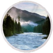 Lochsa River Round Beach Towel